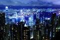 Free Hong Kong At Night Stock Photography - 28638052