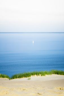 Far Lonely Sailing Royalty Free Stock Photography