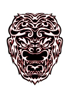 Free Tribal Monkey Head Illustration Stock Photos - 28633173