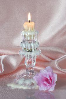 Free Burning Candle Royalty Free Stock Photo - 28633405