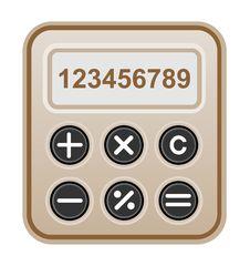 Free Brown Calculator. Royalty Free Stock Photos - 28635658