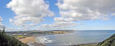Free Panorama Of The Scarborough Coast Stock Photography - 28637722