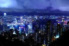 Free Hong Kong At Night Royalty Free Stock Images - 28637909
