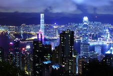 Free Hong Kong At Night Stock Photo - 28637970