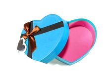 Free Blue Heart-shaped Box Royalty Free Stock Photos - 28638568