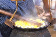 Free Boiling Cocoon In A Pot Stock Image - 28638701