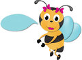 Free Cute Bee With Sign Stock Image - 28640221