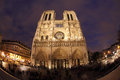 Free Notre Dame In Night With Fisheye On Paris Stock Images - 28640384