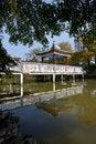 Free Chinese Pavilion Bridge In Lake Royalty Free Stock Photo - 28643085