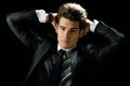 Free Young Businessman, Isolated On Black Background Stock Photos - 28645243