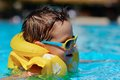 Free The Boy Bathes In Pool Stock Photos - 28645263