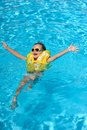 Free The Boy Bathes In Pool Royalty Free Stock Photography - 28645357