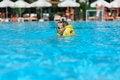 Free The Boy Bathes In Pool Royalty Free Stock Photos - 28645368