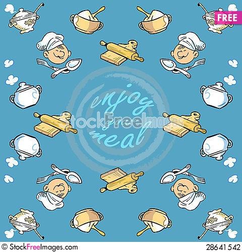 Free Kitchen Pattern Stock Photography - 28641542