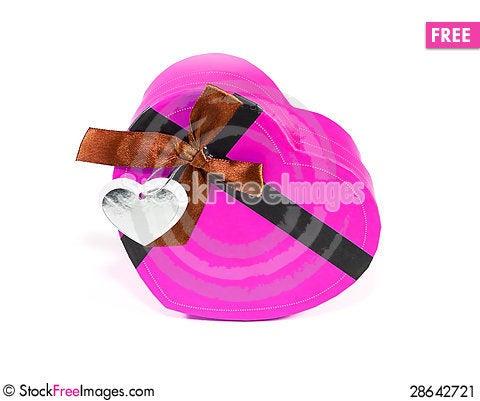Free Pink Heart-shaped Box Stock Image - 28642721