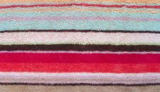 Free Colorful Towel. A Background Royalty Free Stock Photography - 28641147