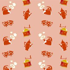Free Coffee Pattern Royalty Free Stock Images - 28641619