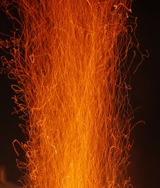Free The Sparks On A Stormy Fire Royalty Free Stock Images - 28643689