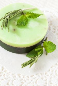 Free Green Handmade Soap Stock Photos - 28644343