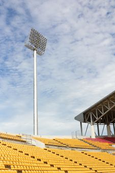 Free The Stadium Spot-light Tower Stock Photography - 28644472