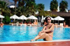 Free The Woman And Pool Stock Photos - 28644663