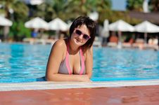 Free The Woman And Pool Stock Photography - 28644742