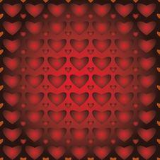 Free Background, Seamless Pattern, Hearts Stock Image - 28648301