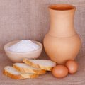 Free Flour, Bread And A Pitcher Stock Photos - 28654593