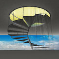 Free Spiral Staircase With Yellow Flare And Blue Sky View Royalty Free Stock Photography - 28657037