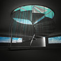 Free Spiral Staircase With Blue Flare From Down View Stock Photo - 28657060