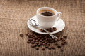 Free Cup Of Coffee, Grains Royalty Free Stock Photo - 28658975