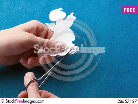 Free Cut Paper Angel Royalty Free Stock Photography - 28657127