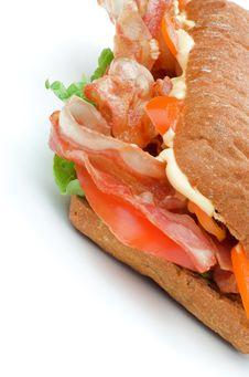 Free Ciabatta Bacon Sandwich Royalty Free Stock Photos - 28651078