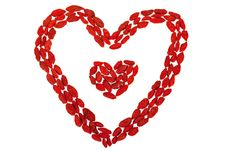 Free Goji Berries Heart Shaped Isolated On White Stock Photography - 28652782