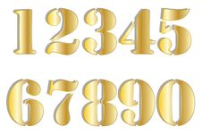 Free Golden Stencil Numbers Royalty Free Stock Images - 28652859