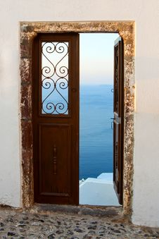 Free Door In Vacation Stock Image - 28653361