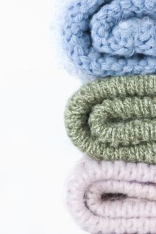 Free Stack Of Knitted Hats Royalty Free Stock Image - 28653416