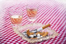 Free Cigar And Ashtray Royalty Free Stock Photography - 28654217