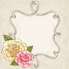 Free Roses Frame Stock Image - 28654531