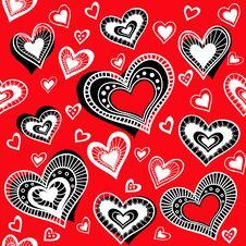 Free Pattern_Hearts_2 Royalty Free Stock Image - 28655256