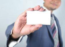 Free Business Man Show Blank Card Stock Photography - 28655292
