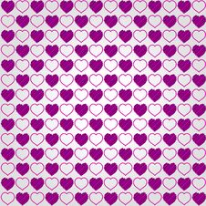 Valentines Day Pattern Background Royalty Free Stock Image
