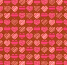 Valentines Day Pattern Background Royalty Free Stock Images