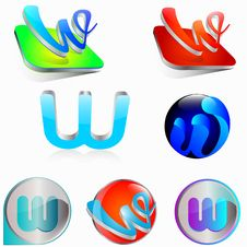Free Icon W Royalty Free Stock Images - 28656019