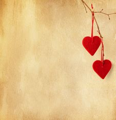 Free Two Red Hearts. Stock Photos - 28656693