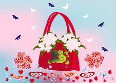 Free Spring - Valentine S Handbag Royalty Free Stock Images - 28658509
