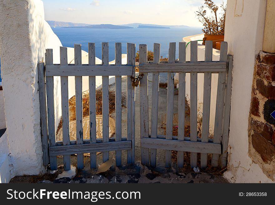 Door in vacation