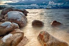 Free Rocks In Lake Tahoe Stock Photography - 28664132