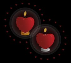 Free Heart Shaped Candle Royalty Free Stock Images - 28664259