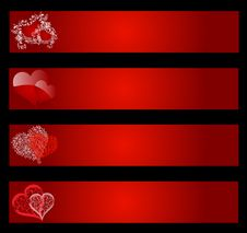 Free Valentines Banners Royalty Free Stock Photography - 28667567